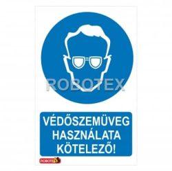 Védőszemüveg használata kötelező!