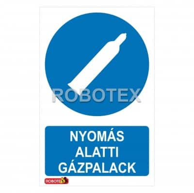 Nyomás alatti gázpalack Robotex jelzés