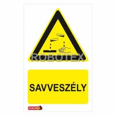 Vigyázz Savveszély Robotex jelzés
