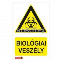biológiai veszély tábla matrica Robotex kft.