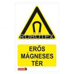 Erős mágneses tér tábla matrica Robotex kft