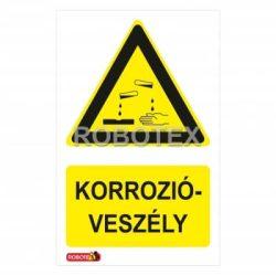 Vigyázat! Korrózióveszély tábla Robotex Kft.