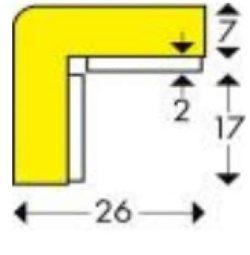 Mágneses védőszivacs E típus, sárga-fekete, 1 méter