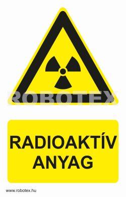 Radioaktív anyag tábla matrica Robotex Kft.