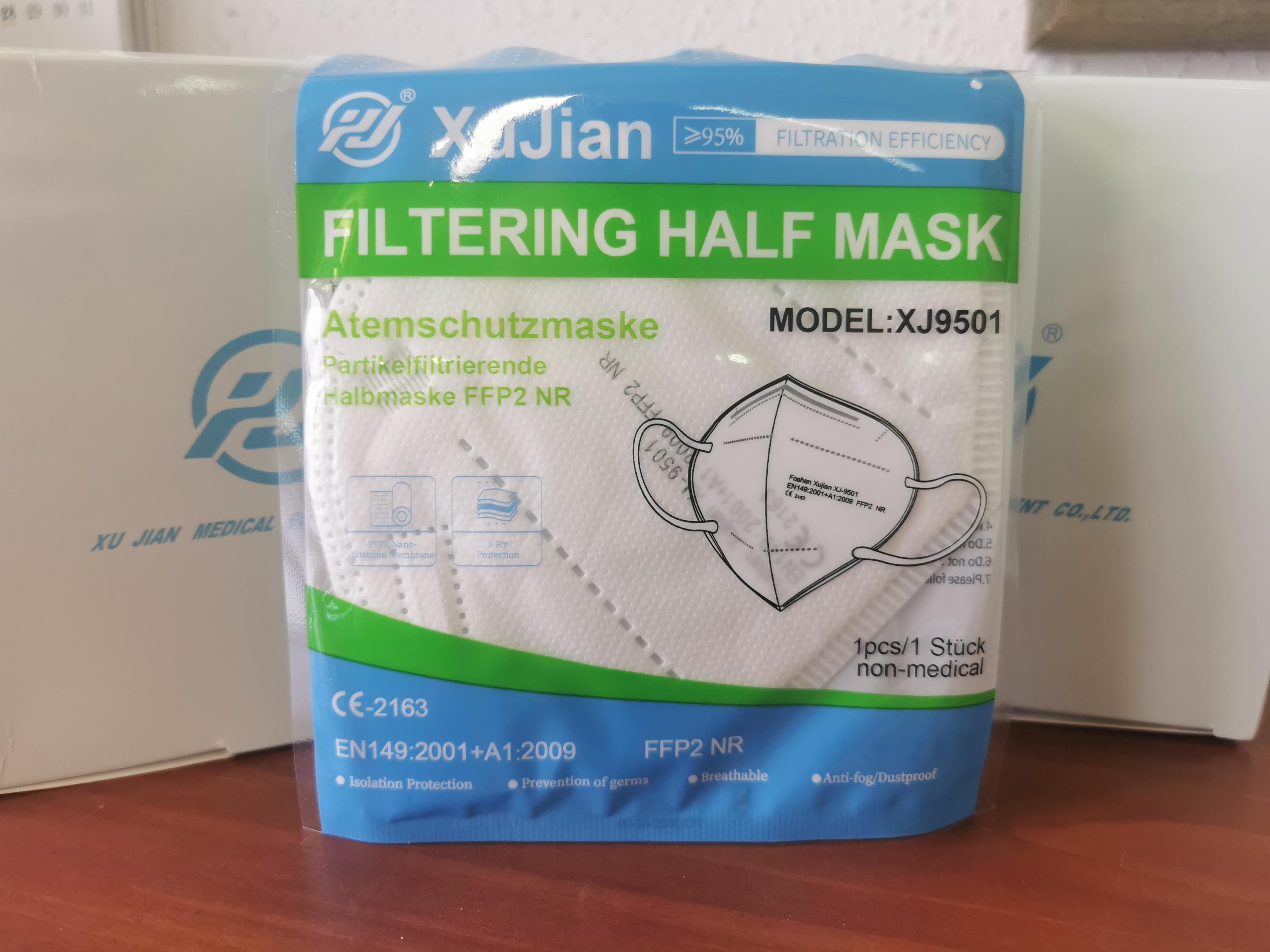 FFP2 NR szelep nélküli maszk